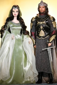 Barbie and Ken as Arwen and Aragorn in The Lord of the Rings