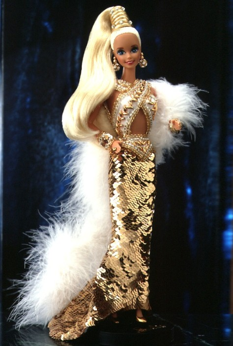 Bob Mackie Gold Barbie Doll