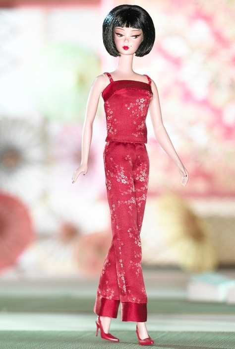 Chinoiserie Red Midnight Barbie Doll