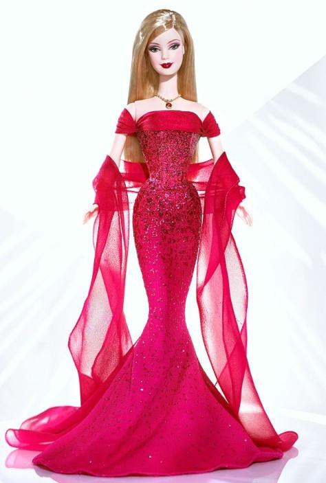 July Ruby Barbie Doll