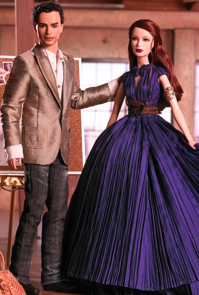 Zac Posen Barbie Doll and Ken Doll Giftset