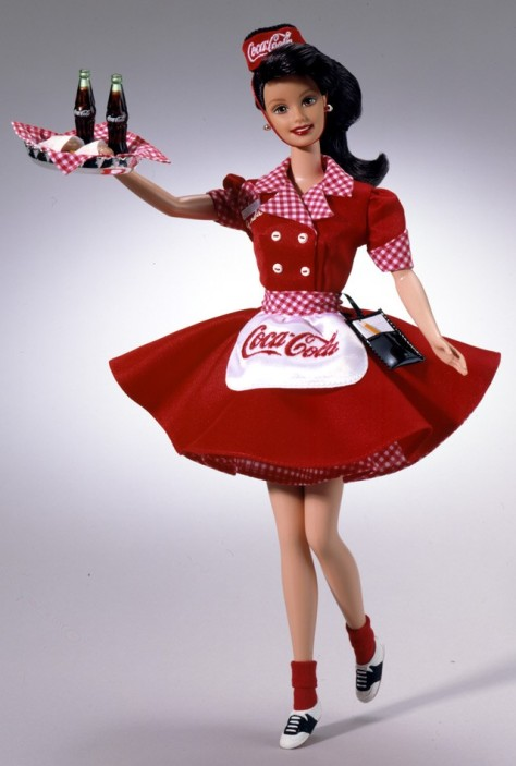 Coca-Cola Barbie Doll (Brunette Waitress)