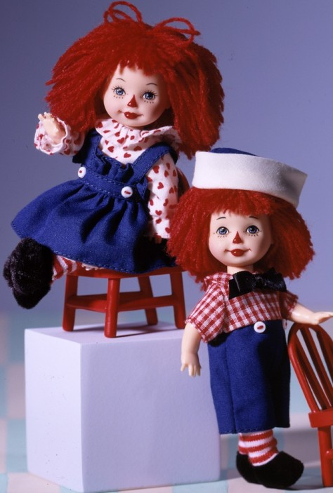 Kelly Doll and Tommy Doll as Raggedy Ann and Andy