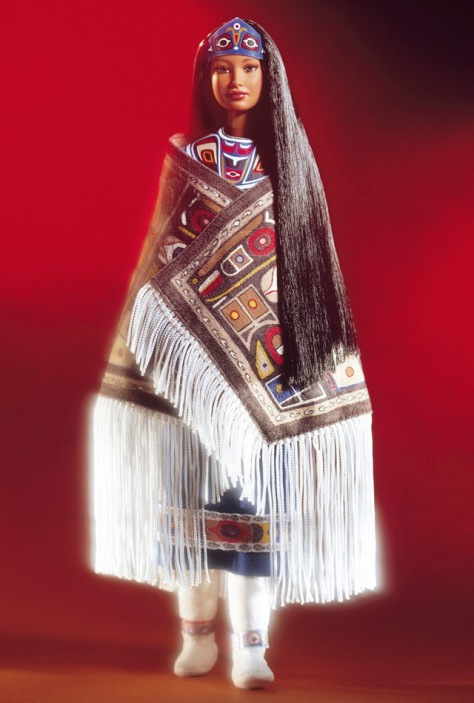 Northwest Coast Native American Barbie Doll