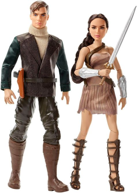 Steve Trevor and Wonder Woman doll