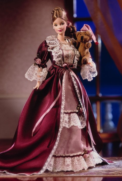 Victorian Barbie Doll with Cedric Bear