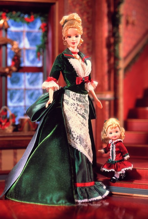 Victorian Holiday Barbie and Kelly