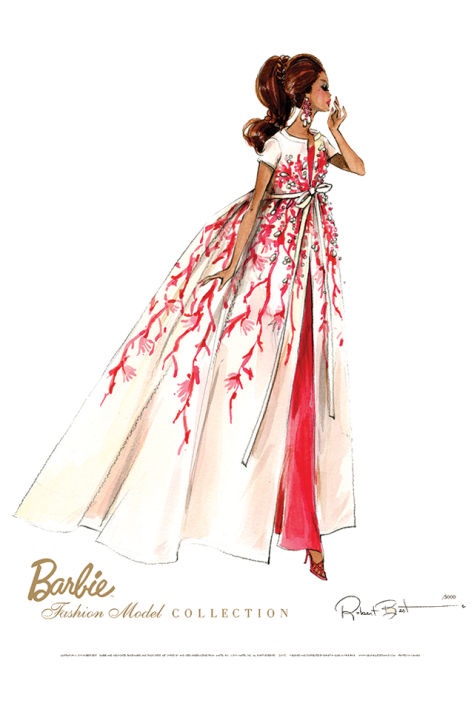 Barbie® Fashion Model Collection Limited Edition Reproduction Art
