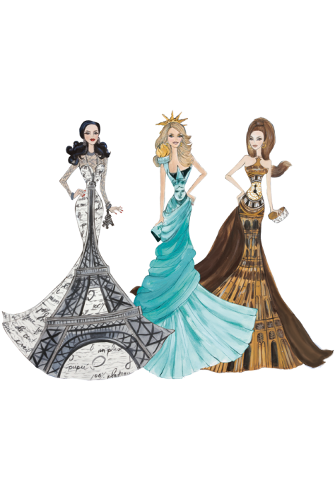 Dolls of the World® Landmark Collection Limited Edition Reproduction Art