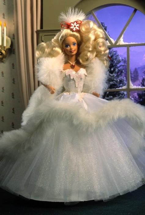 1989 Happy Holidays Barbie Doll