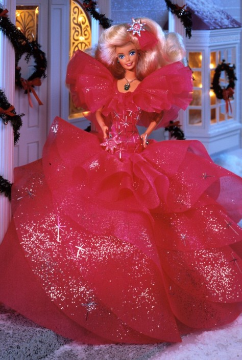 1990 Happy Holidays Barbie Doll (!)