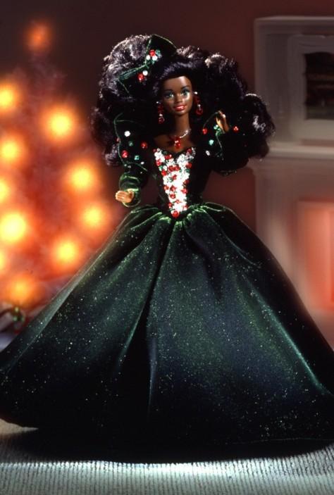 1991 Happy Holidays Barbie Doll (AA)