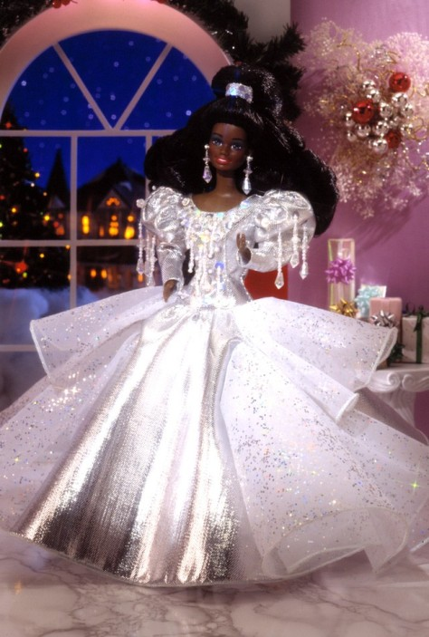 1992 Happy Holidays Barbie Doll (AA)