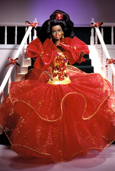 1993 Happy Holidays Barbie Doll (AA)