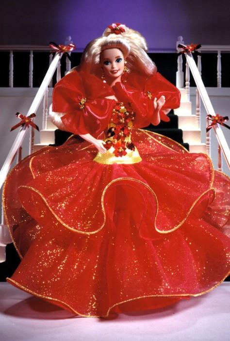1993 Happy Holidays Barbie Doll