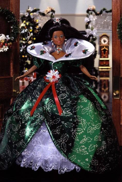1995 Happy Holidays Barbie Doll (AA)