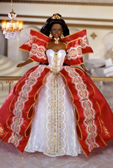 1997 Happy Holidays Barbie Doll (AA)