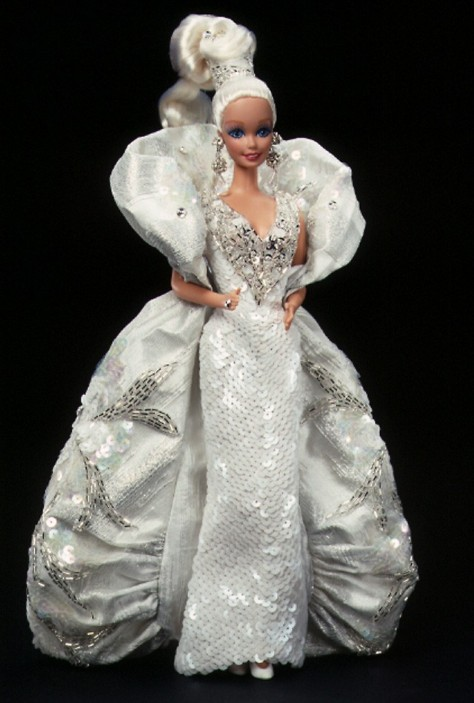 Bob Mackie Platinum Barbie Doll