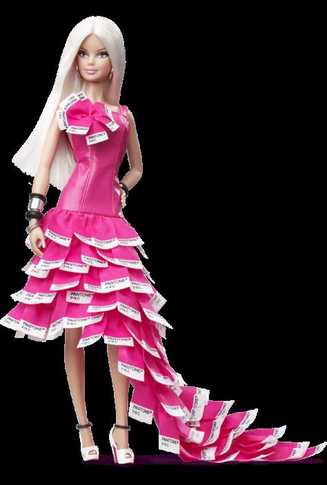 Pink In PANTONE Barbie Doll