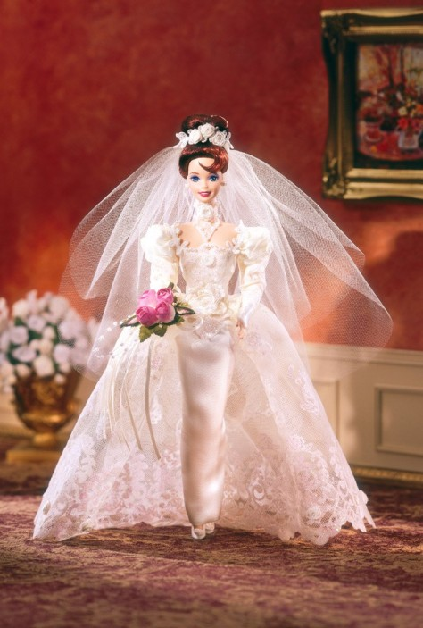 Romantic Rose Bride Barbie Doll