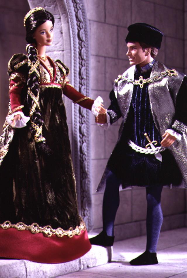 Ken and Barbie Dolls as Romeo & Juliet
