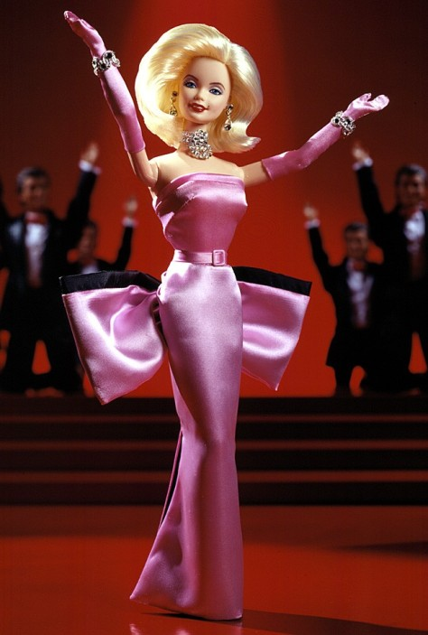 Barbie Doll as Marilyn in the Pink Dress from Gentlemen Prefer Blondes