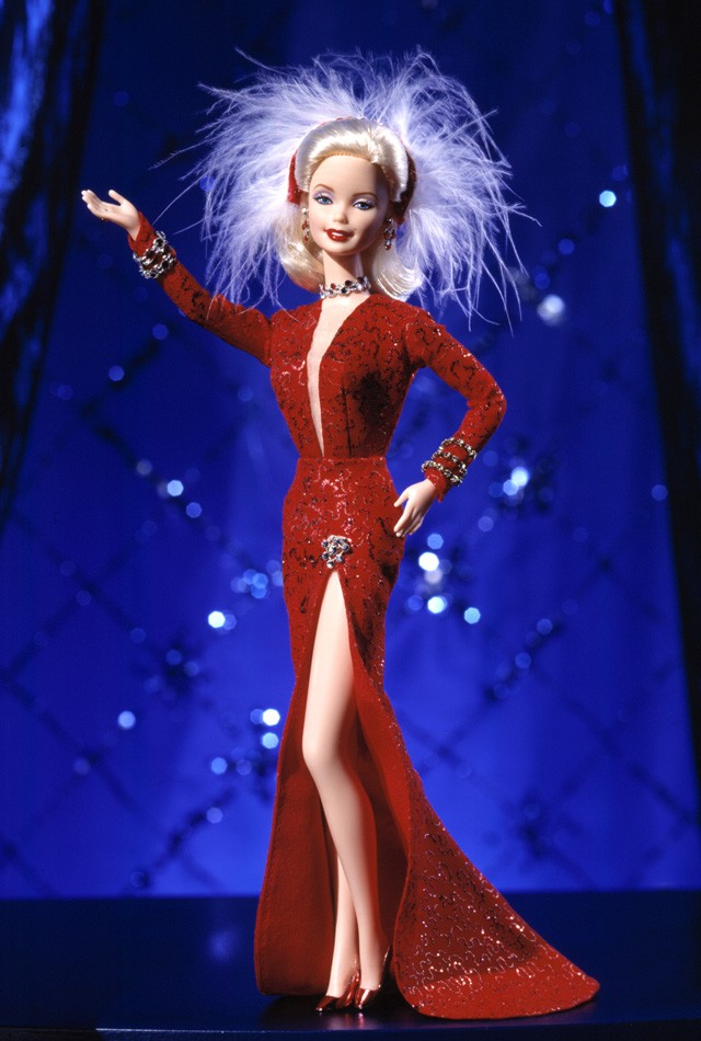 Barbie Doll as Marilyn in the Red Dress from Gentlemen Prefer Blondes