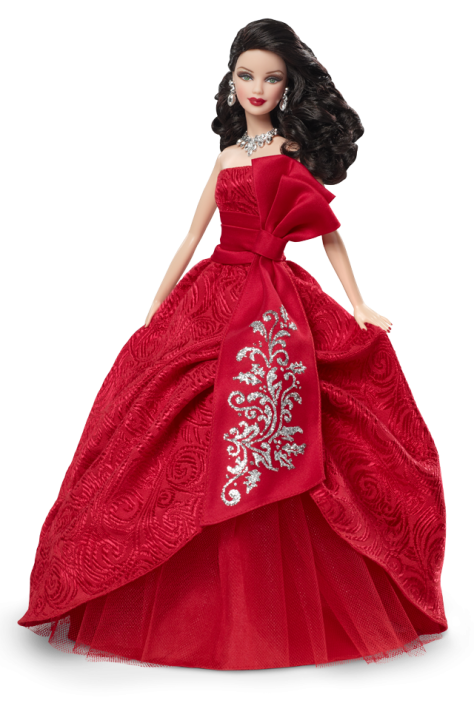 2012 Holiday Barbie Doll − Brunette