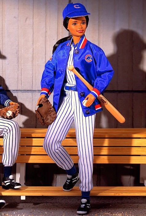 Chicago Cubs Barbie Doll (African-American)
