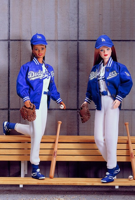 Los Angeles Dodgers Barbie Dolls