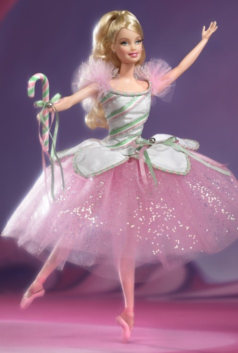 Peppermint Candy Cane Barbie Doll