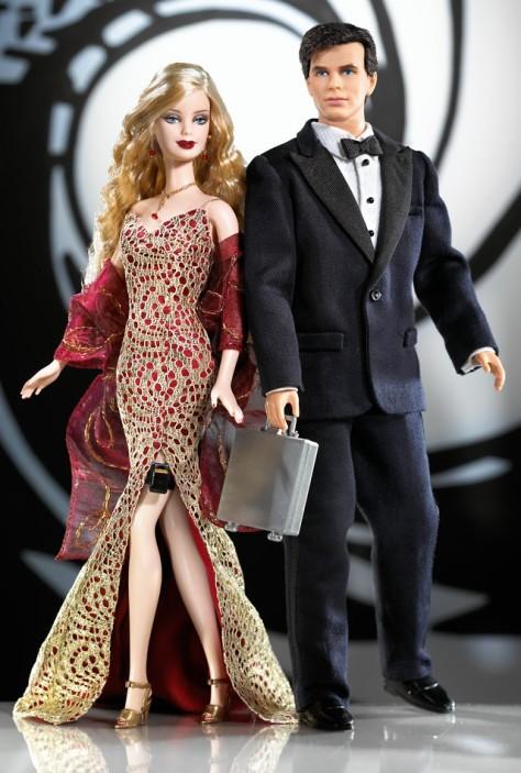 James Bond 007 Ken and Barbie Giftset