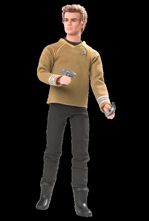 Ken doll as Captain Kirk