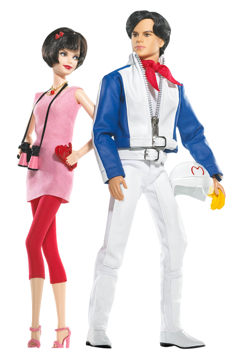 Speed Racer Barbie Doll and Ken Doll Giftset