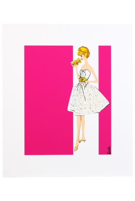 Barbie Art Print - Party Date
