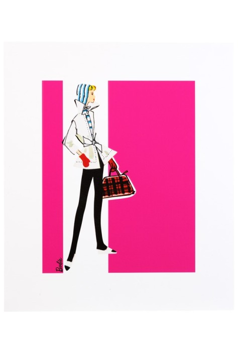 Barbie Art Print - Winter Holiday