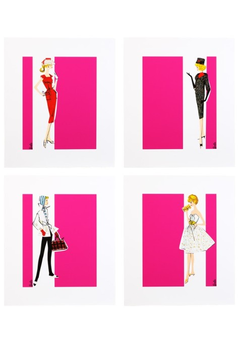 Barbie Art Prints - Set of 4