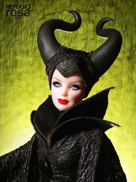 Maleficient Barbie Doll