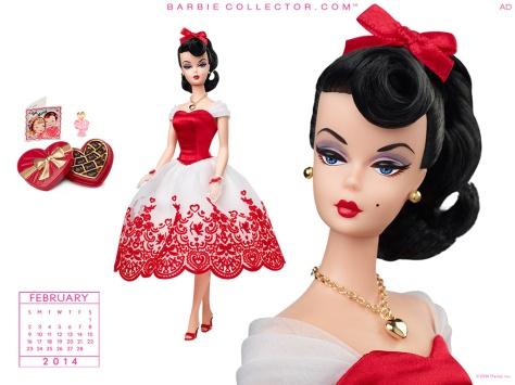 Calendario de Barbie Collector Febrero 2014