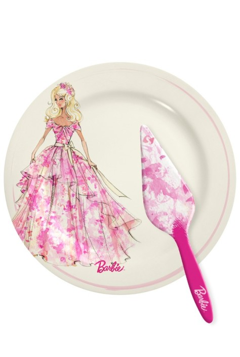 Barbie Cake Plate & Server Set
