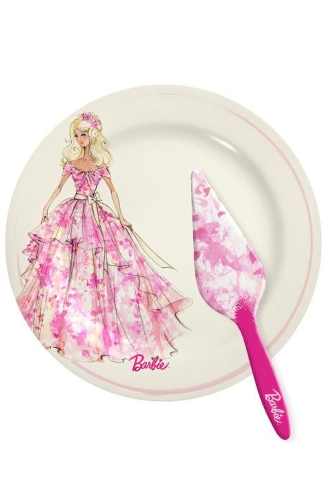 Barbie Cake Plate & Server Set