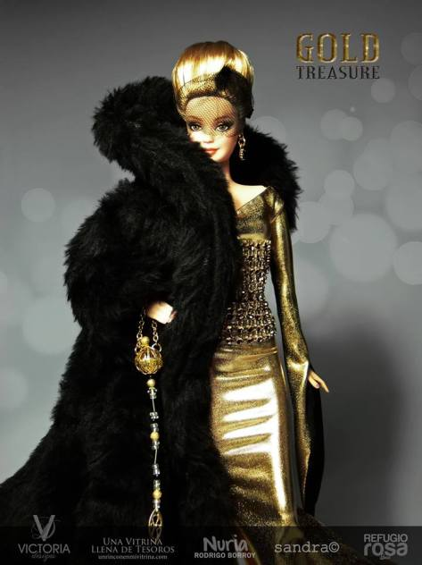 Golden Treasure OOAK Barbie Doll