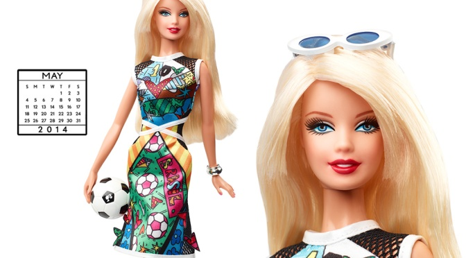 Desktop Calendar of Barbie Collector – May 2014