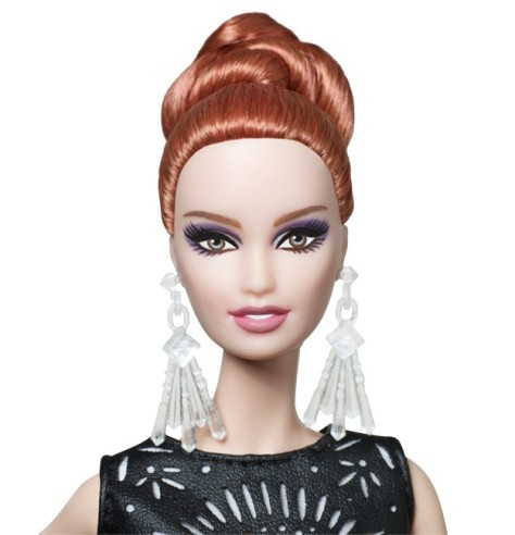 Laser-Leatherette Dress Barbie Doll