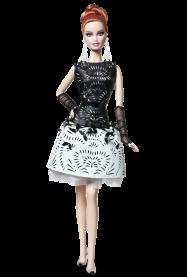 Laser-Leatherette Dress Barbie Doll