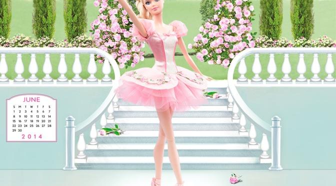 Desktop Calendar of Barbie Collector – Jun 2014