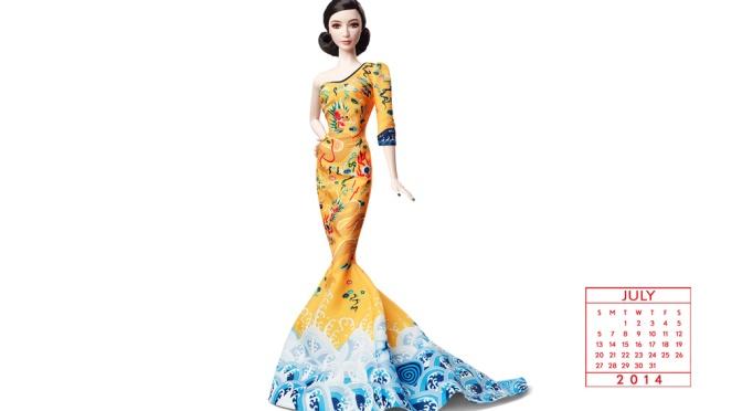 Desktop Calendar of Barbie Collector – July 2014