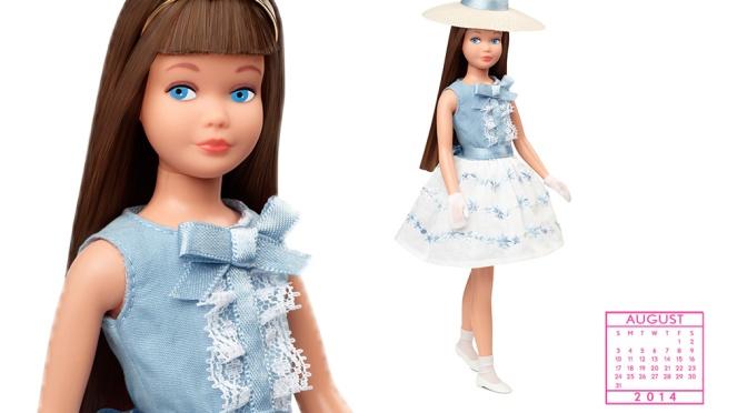 Desktop Calendar of Barbie Collector – August 2014
