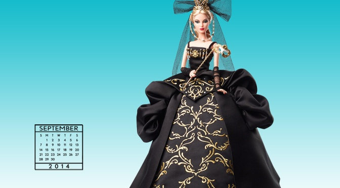 Desktop Calendar of Barbie Collector – September 2014