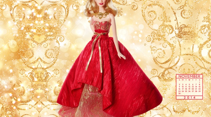 Desktop Calendar of Barbie Collector: November 2014